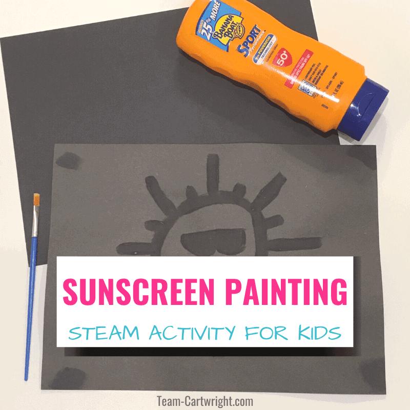 sunscreen painting