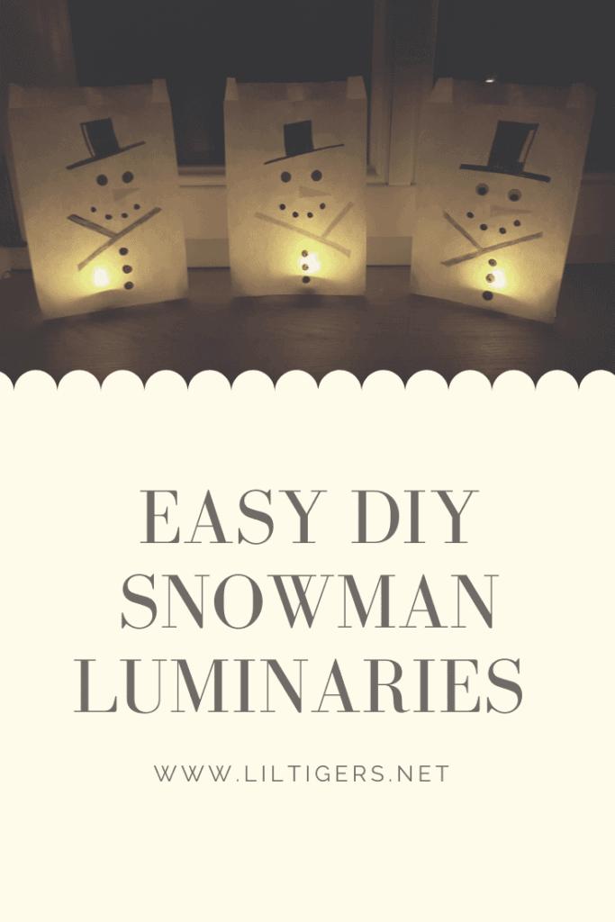 snowman luminaries