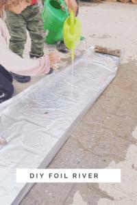 DIY foil river