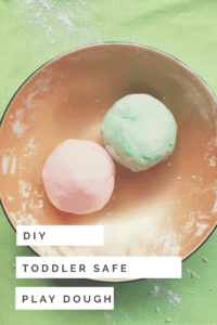 DIY Toddler Safe Play dough recipe