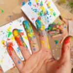 How to make art with paint-filled eggs (kids age 3+)