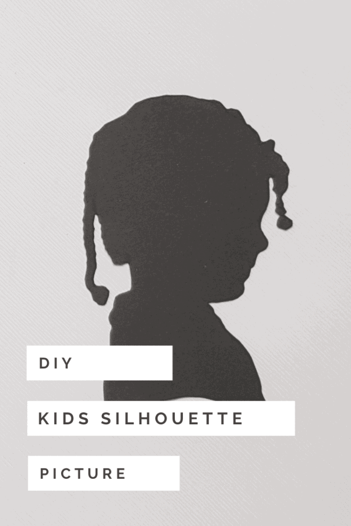 DIY kids silhouette picture