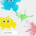 How to make your own friendly watercolor monster art with kids.