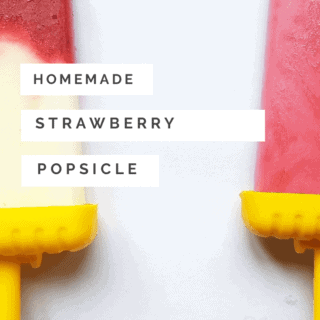How to make your own homemade strawberry popsicles
