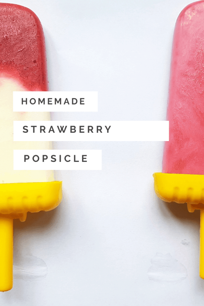 homemade strawberry popsicle recipe
