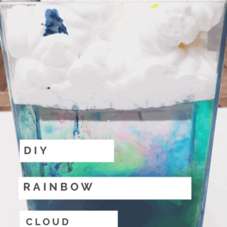 How to make your own fun rainbow cloud science experiment