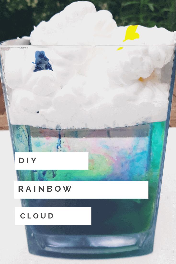 DIY Rainbow cloud science experiment
