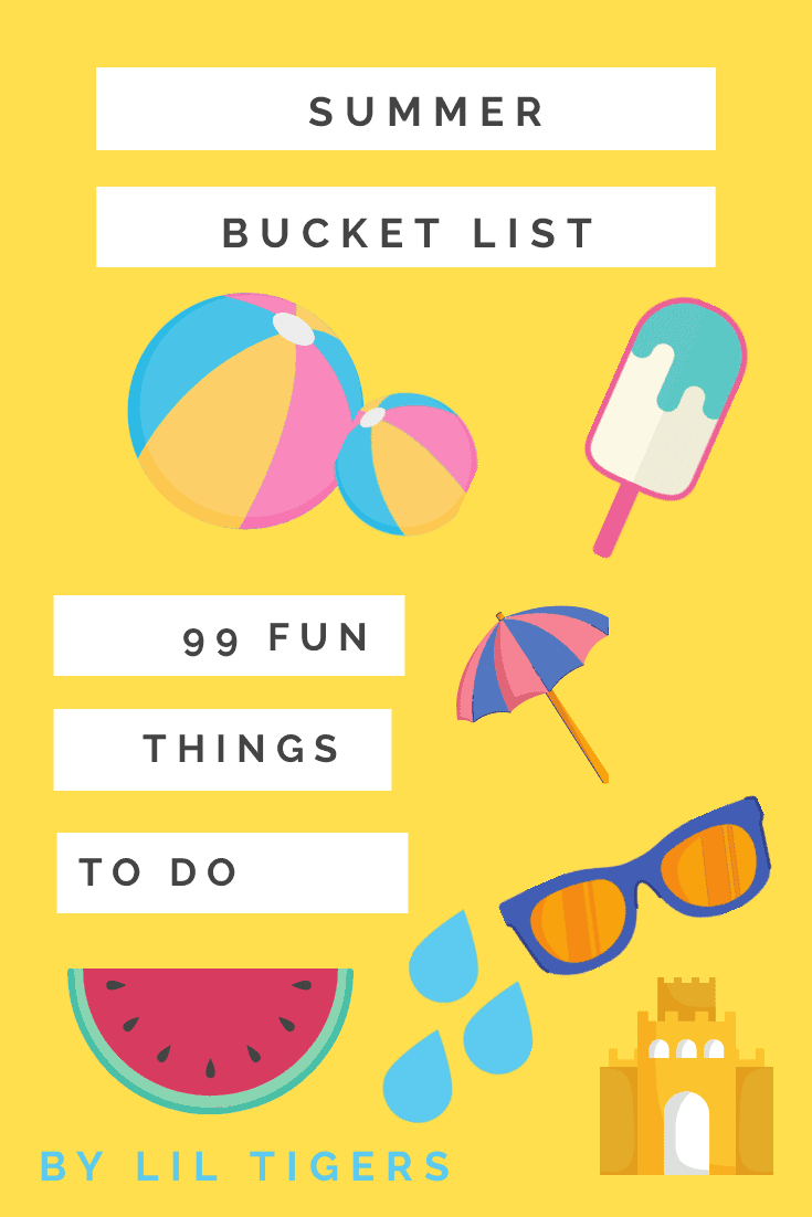 Awesome Summer Bucket List for Kids with Free Printable