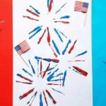 Easy firework art project for preschoolers and big kids