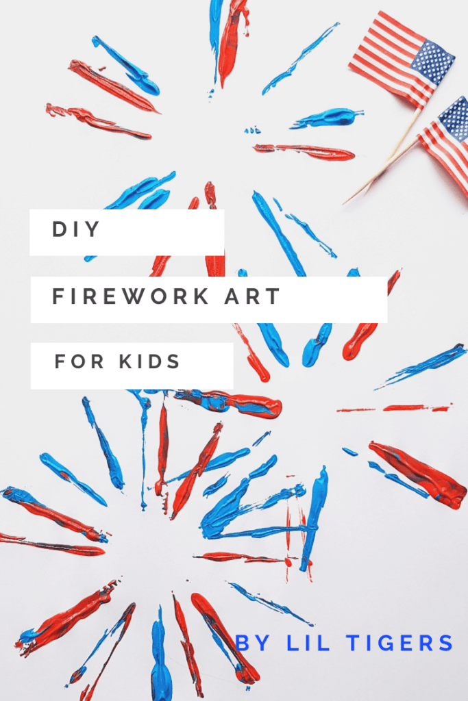 DIY Firework art for kids