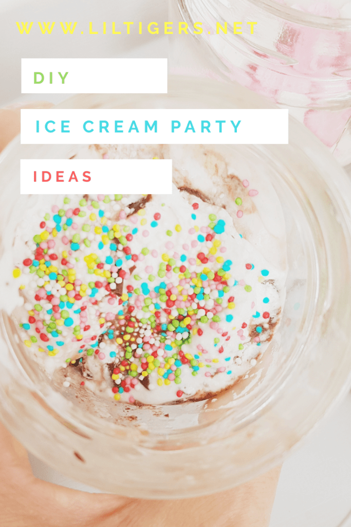 Ice cream bar party idea