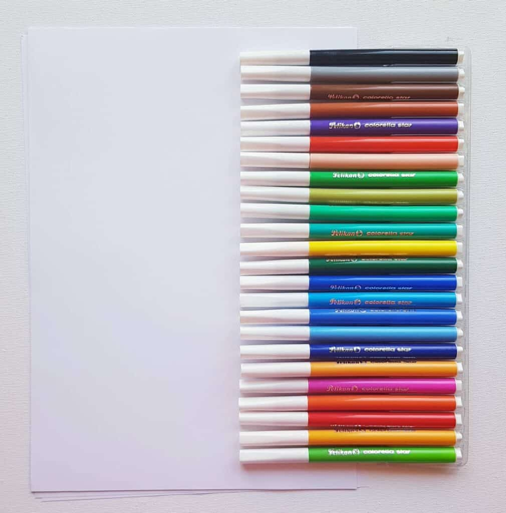 material for cursive writing activity