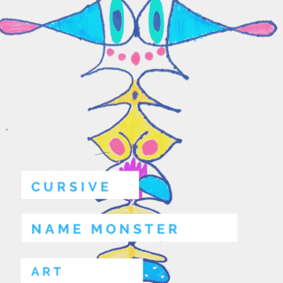 How to Make Fun Cursive Name Monster With Kids (Age 6+)