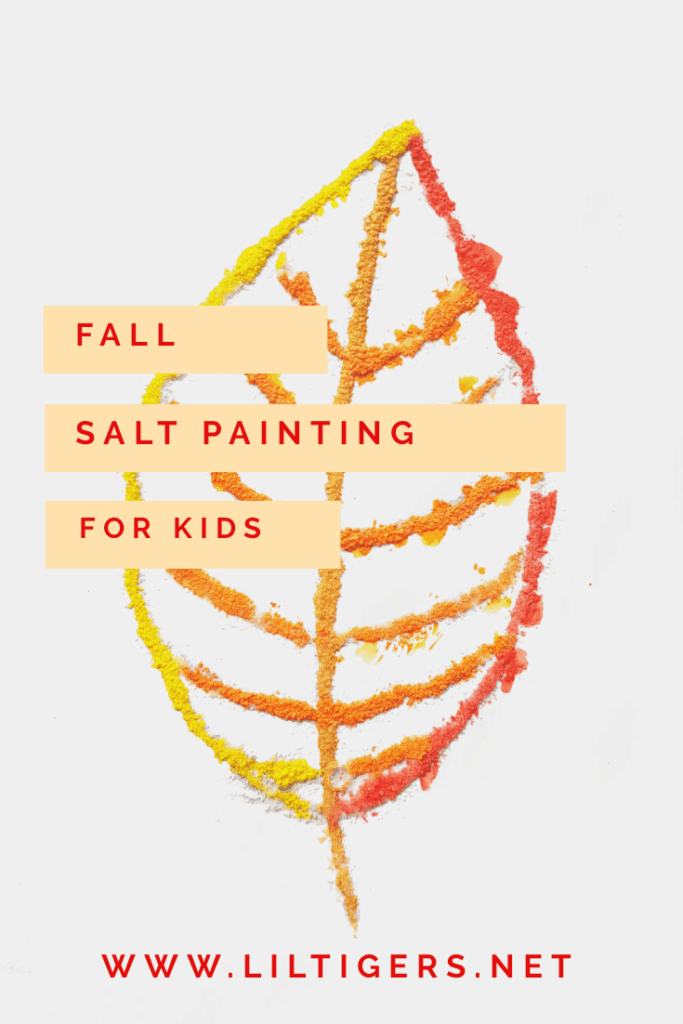 Fall salt painting for kids