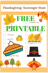 Free Printable Thanksgiving Scavenger Hunt