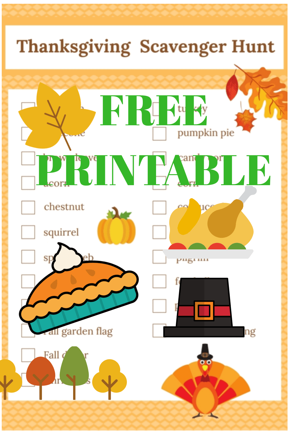 Free Printable Thanksgiving Scavenger Hunt for Kids