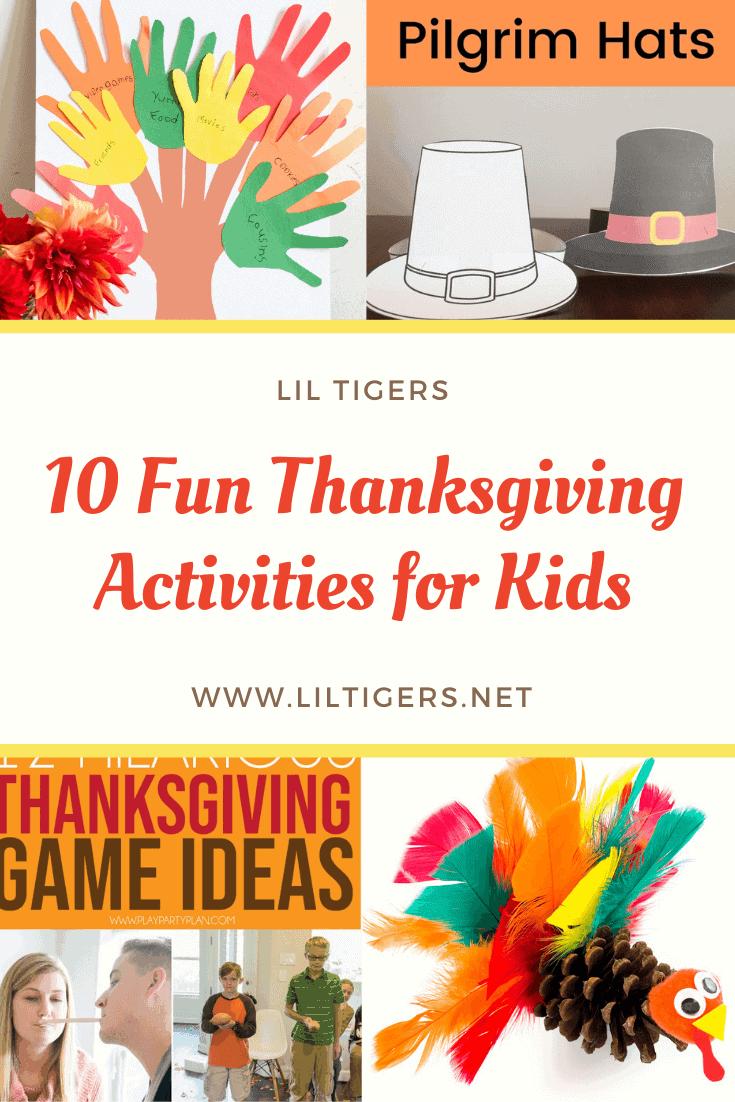 10 fun thanksgiving activities for kids