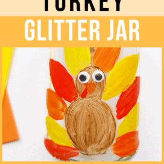 DIY Thanksgiving Turkey Glitter Jar for Kids