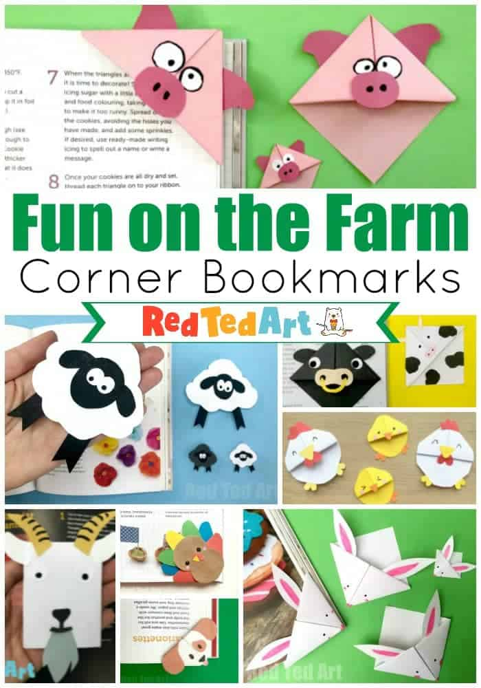farm corner bookmarks
