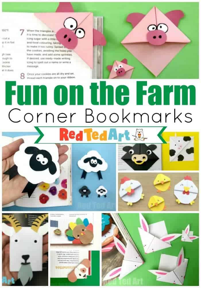 farm corner bookmarks