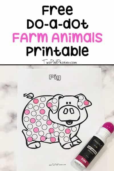Do a dot farm printables