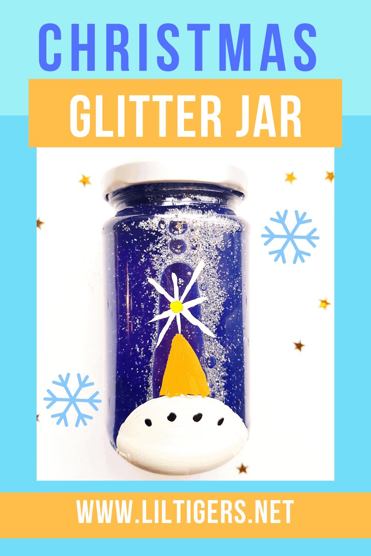christmas glitter jar