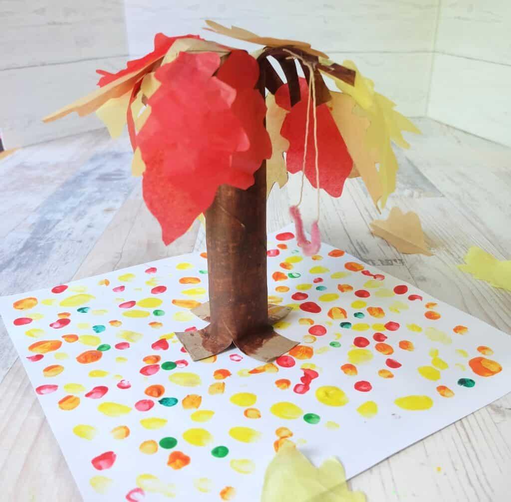 paper bag and towel kids craft