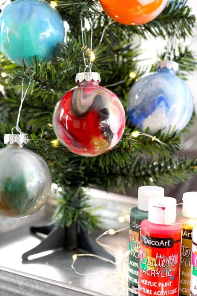 painted balls ornament