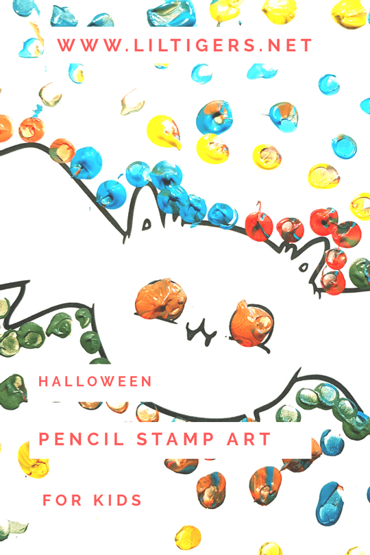 Hallowenn pencil stamp art