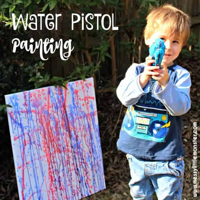 water pistol painting