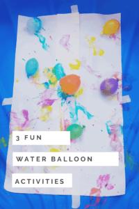 3 fun water balloon activities for kids