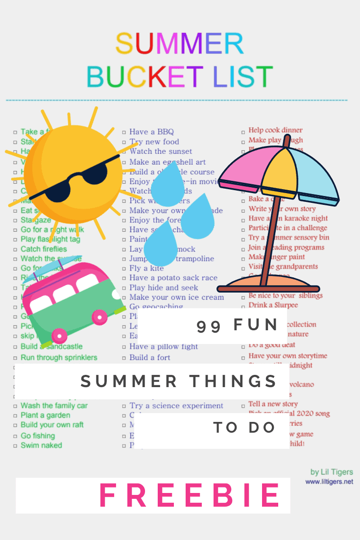 awesome summer bucket list