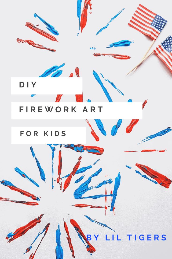 diy firework art project for kids