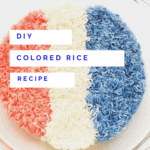 How to make your own colored rice for sensory play