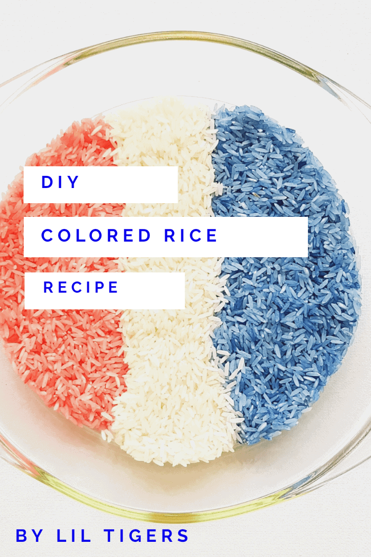 DIY colored rice recipe