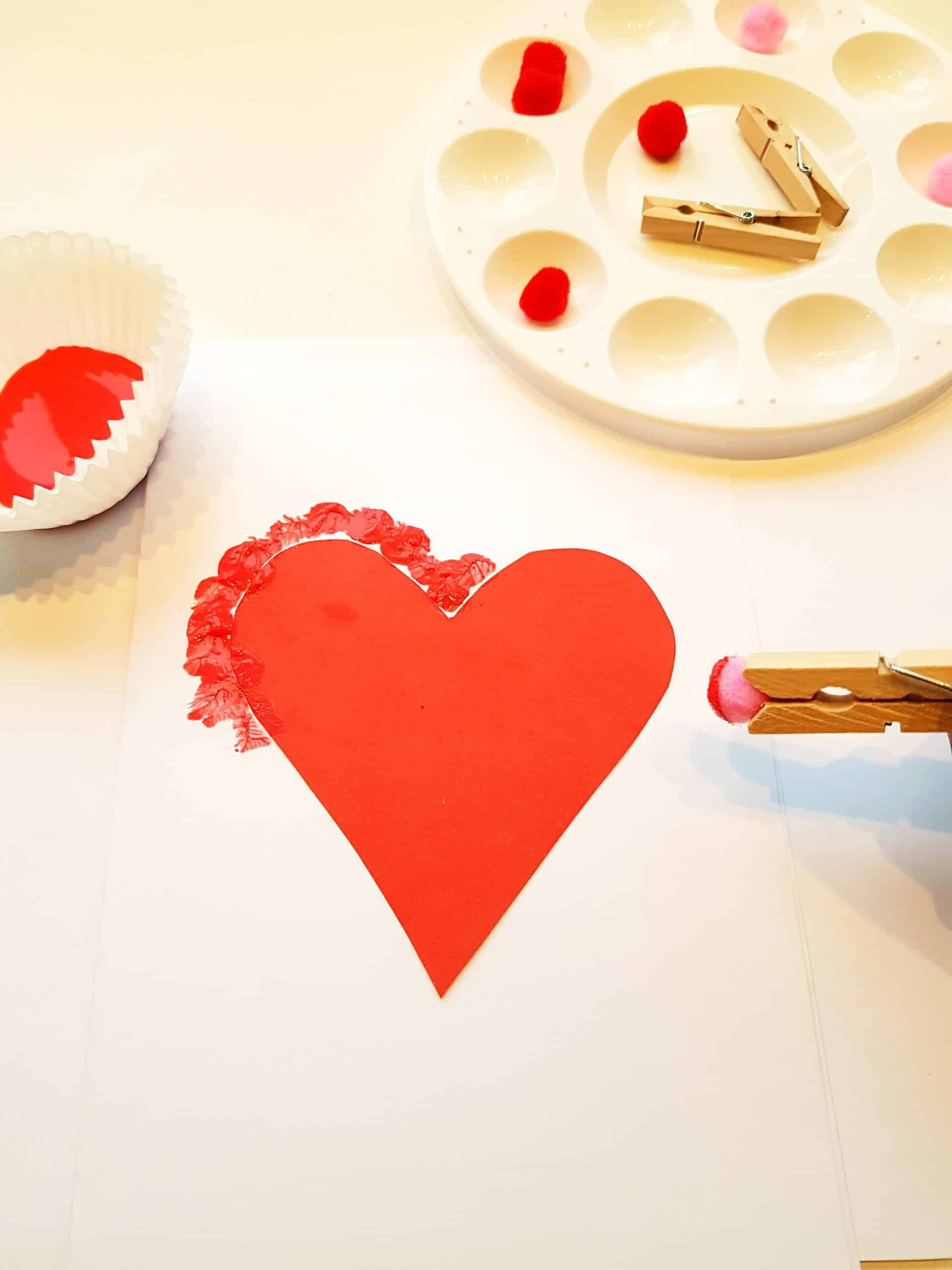 cut heart and place on your card