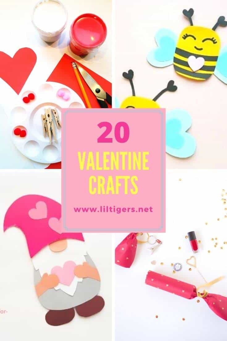 25 Easy Valentine's Day Crafts for Kids in 2021 (age 3+)