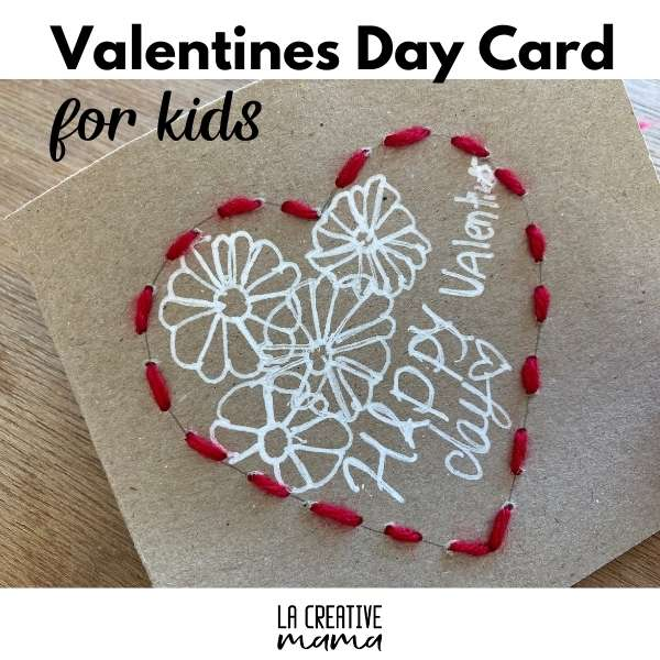 Valentine's day crafts: Valentine's day card for kids