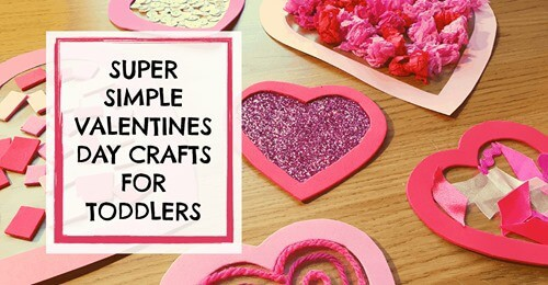 super simple valentines day crafts for toddlers