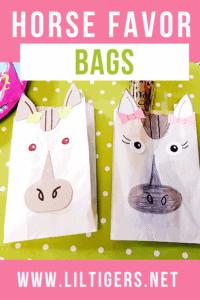 DIY horse favor bags