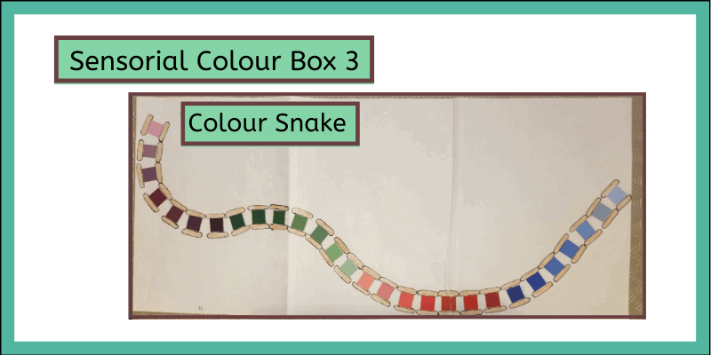 sensorial color box with color snake