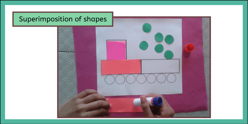 superimposition of shapes - montessori style arts and crafts