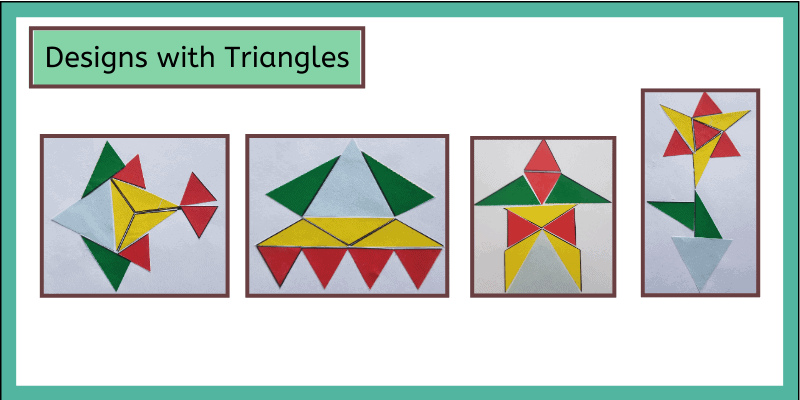 design with triangles arts and craft project