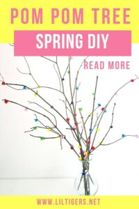 DIY Pom Pom Tree - Spring Decore project