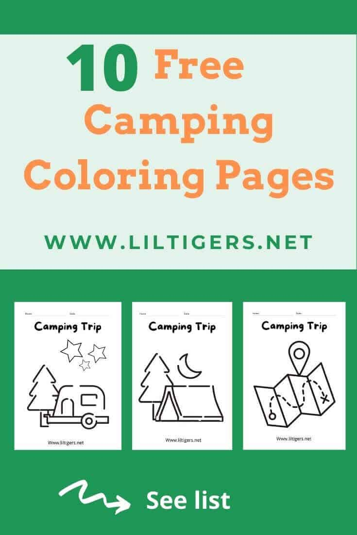 Free printable coloring pages of camping