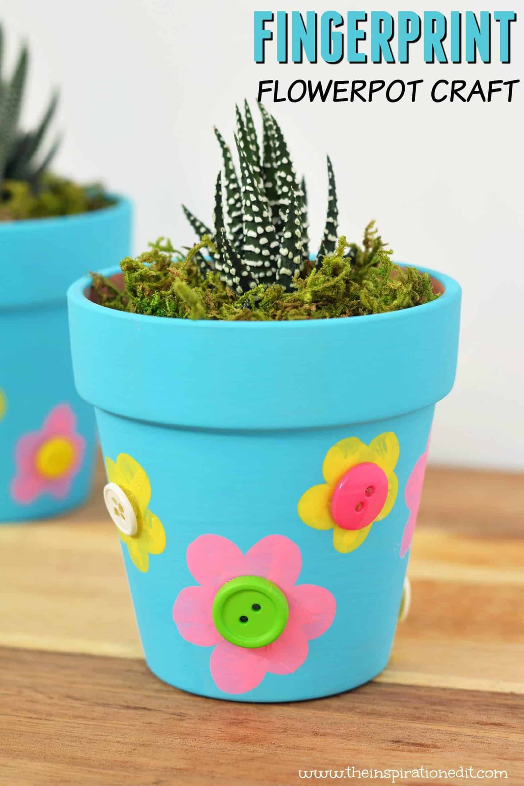 diy flower pot for mothers day