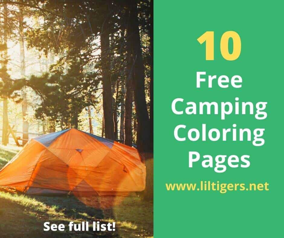 free printable camping coloring sheets