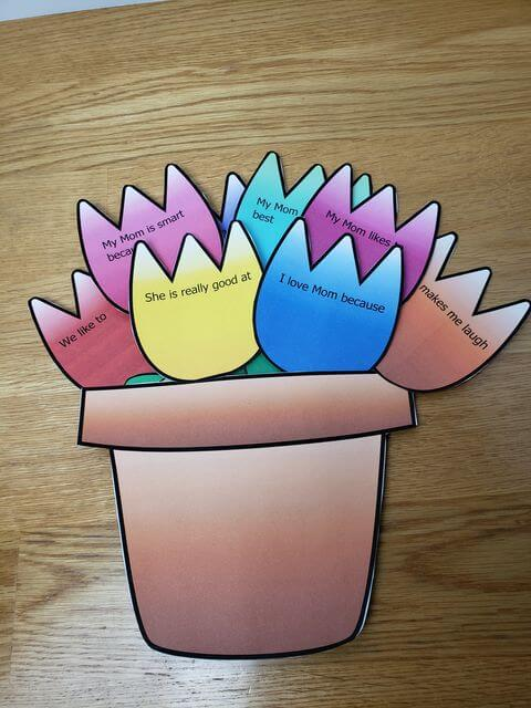 flower pot craft for mothers day