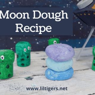 How To Make Moon Dough - DIY Space Sensory Bin