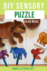 DIY Sensory Puzzle brown bear brown bear what do you see